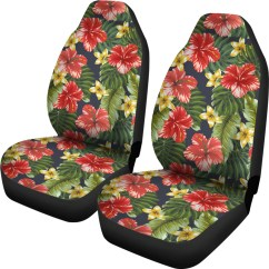 Hawaiian Chair Covers Folding Wall Rack Pattern Car Seat Groove Bags