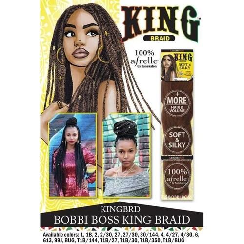 King Braid Afrelle 100% Kanekalon Braiding Hair By Bobbi