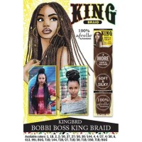 King Braid Afrelle 100% Kanekalon Braiding Hair By Bobbi