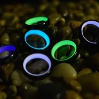 White Glow Carbon Fiber Rings  Glowing Rings