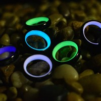 White Glow Carbon Fiber Rings  Glowing Rings