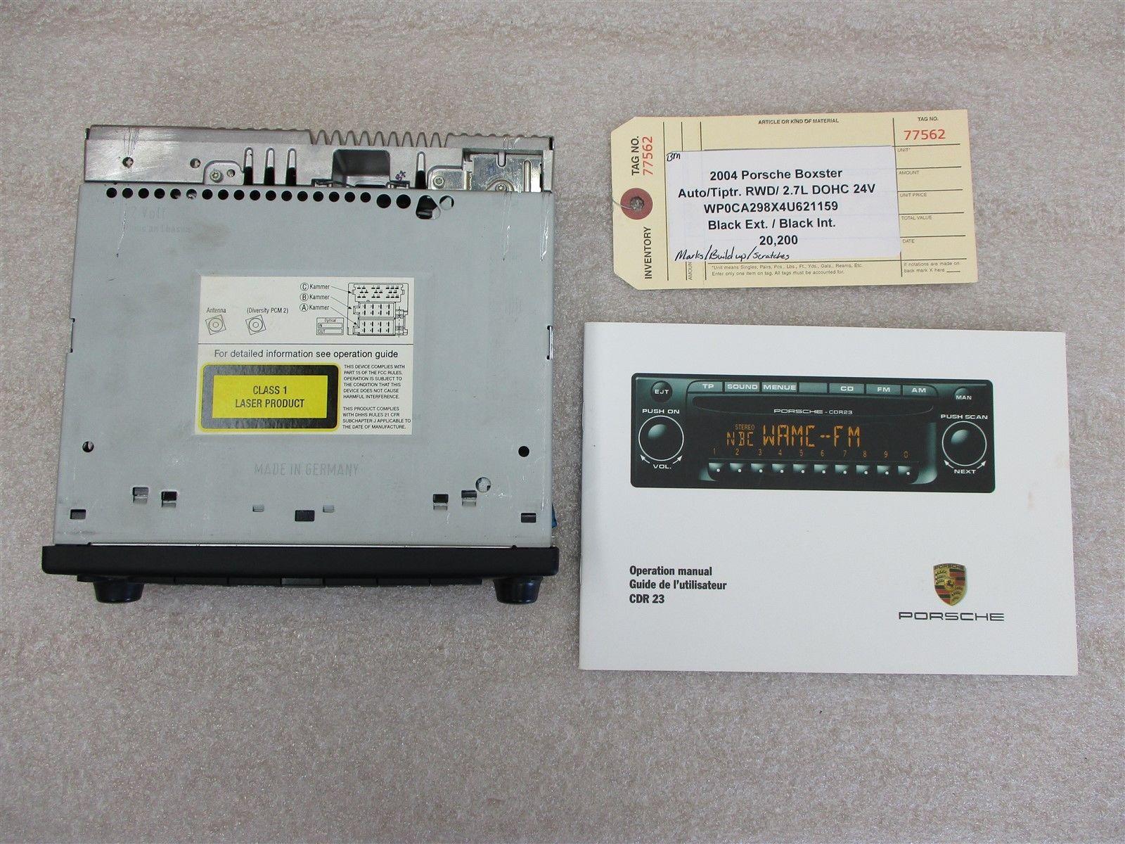 medium resolution of 04 boxster rwd porsche 986 radio tuner cd player cdr23 99664512805 20 200