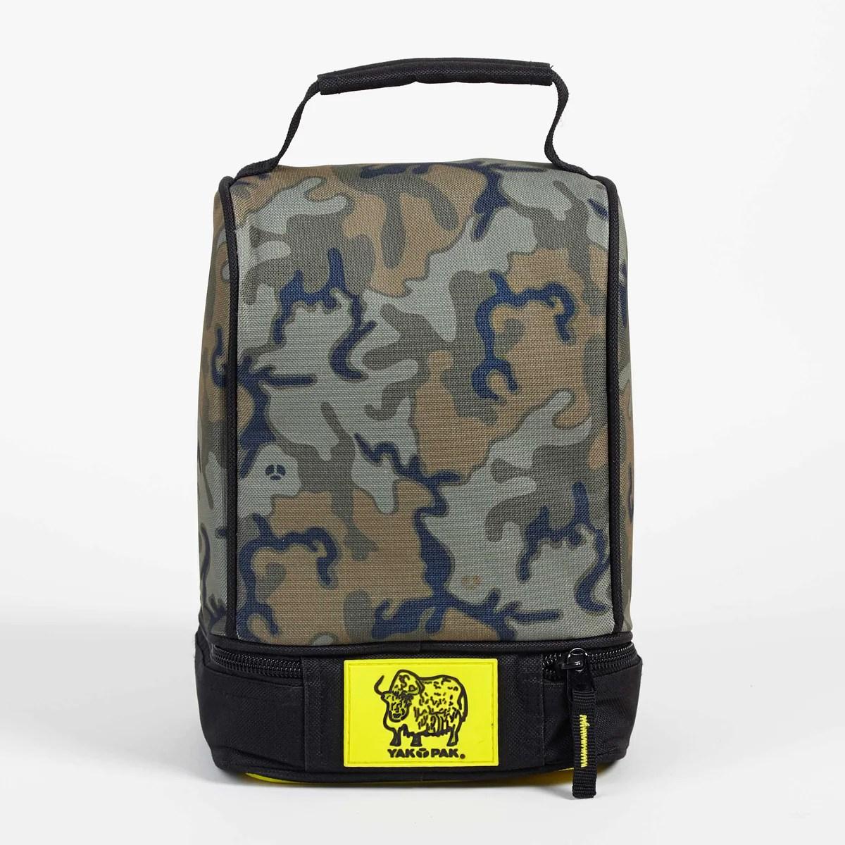 Yak Pak Green Camo Lunch Bag Minnow Mars