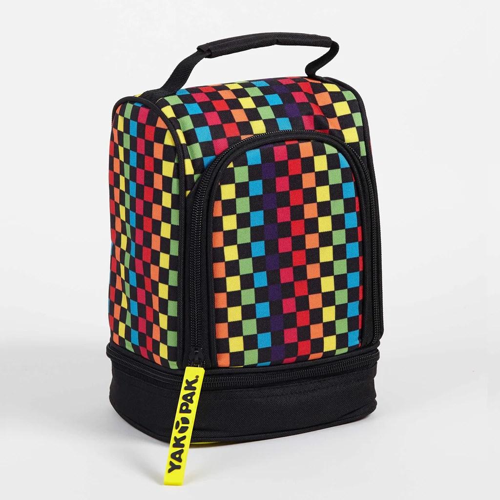 Yak Pak Rainbow Checker Lunch Bag Minnow Mars