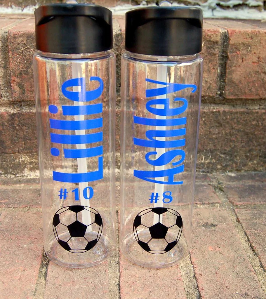 personalized sports plastic water