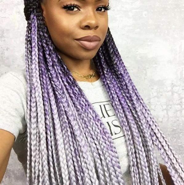 catface hair black lilac grey ombre