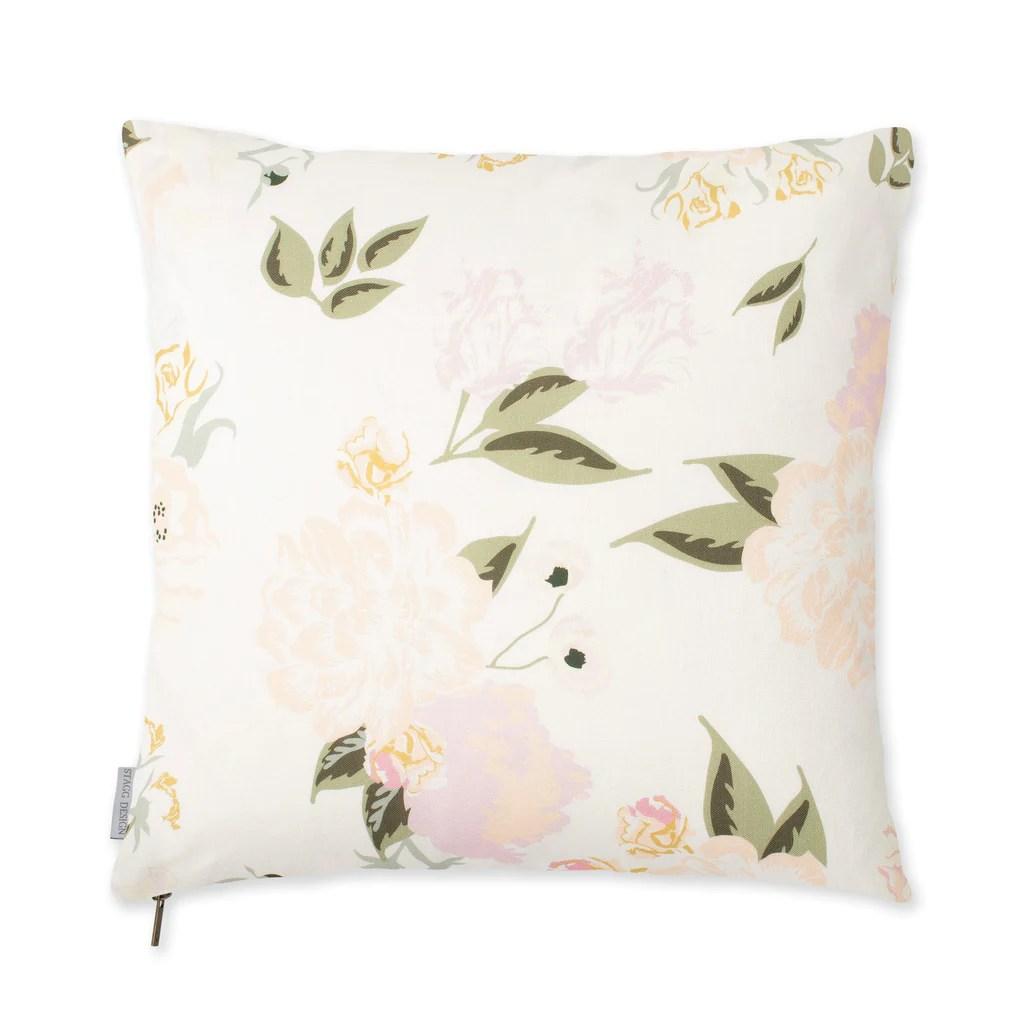 Vivienne Floral Pillow  Blush  Stagg Design Shop
