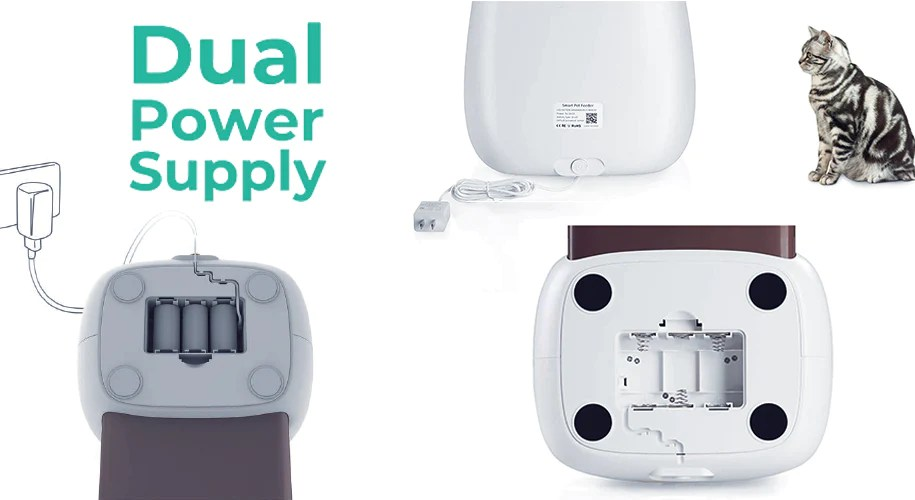 Smartpaw Ultimate Pet Feeder Contains Dual Power Supply