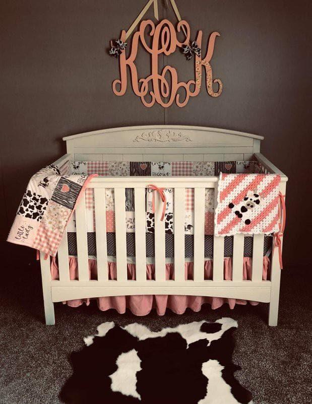 custom girl crib bedding