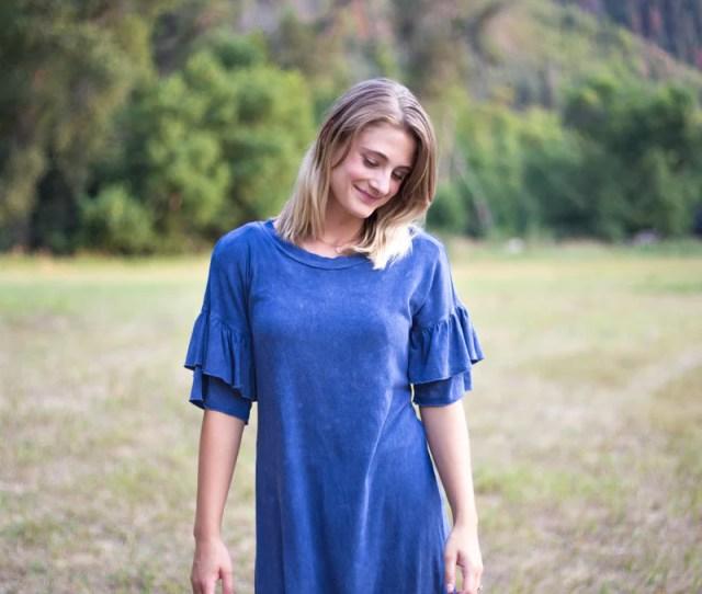 The Shae Denim Blue Dress