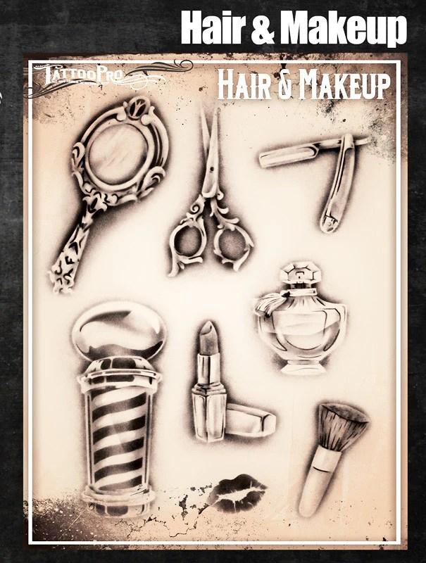 hair & makeup tattoo pro stencils