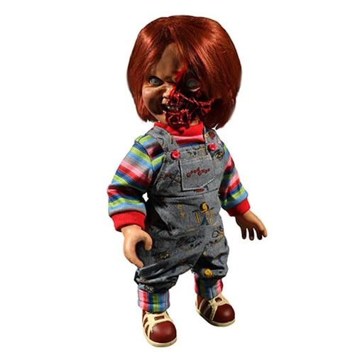 Child S Play Pizza Face Chucky Talking Mega Scale 15 Inch