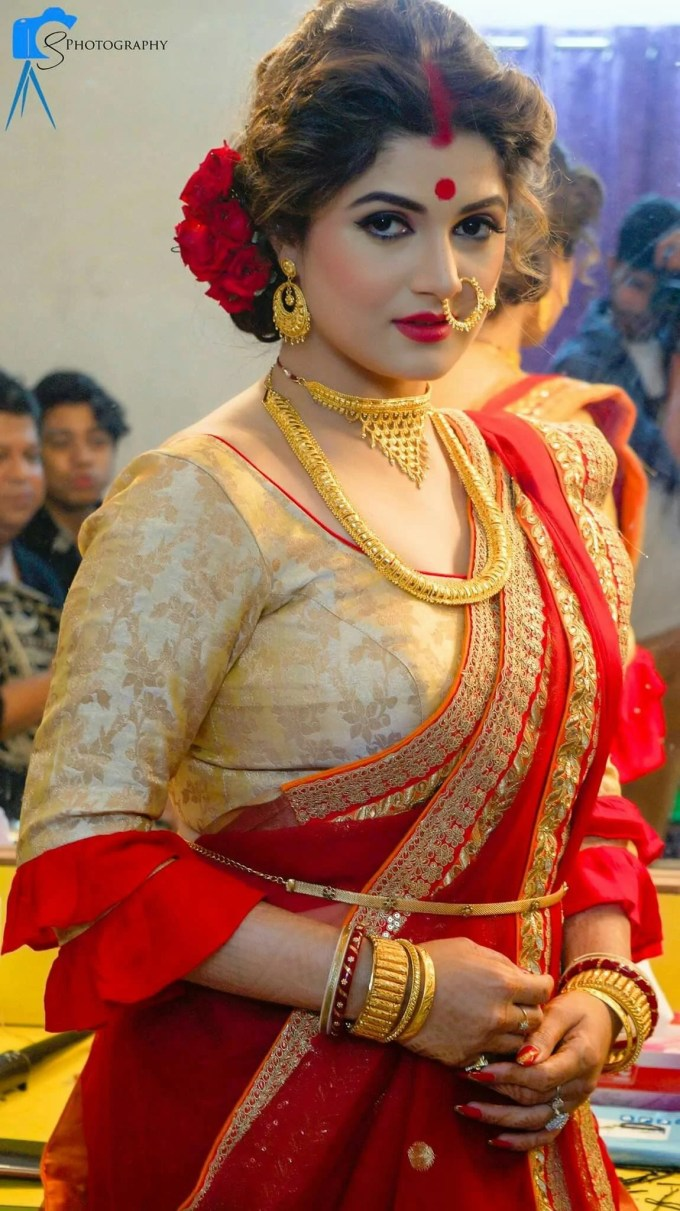 how to wear saree in south indian style | south indian half