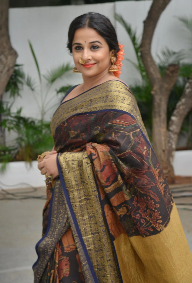 Vidya Balan in Saree | Vidya Balan Silk Saree | Vidya Balan Saree ...