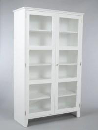 Scandinavian glass cabinet| Glass display cabinet| White ...
