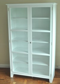 Scandinavian glass cabinet| Glass display cabinet| White ...