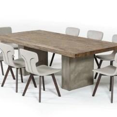 Concrete Kitchen Table Cabinets Philadelphia Modrest Renzo Modern Oak Dining By Vig Furniture