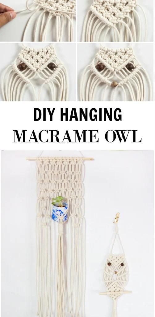 Macrame Owl DIY  Home Made Luxe