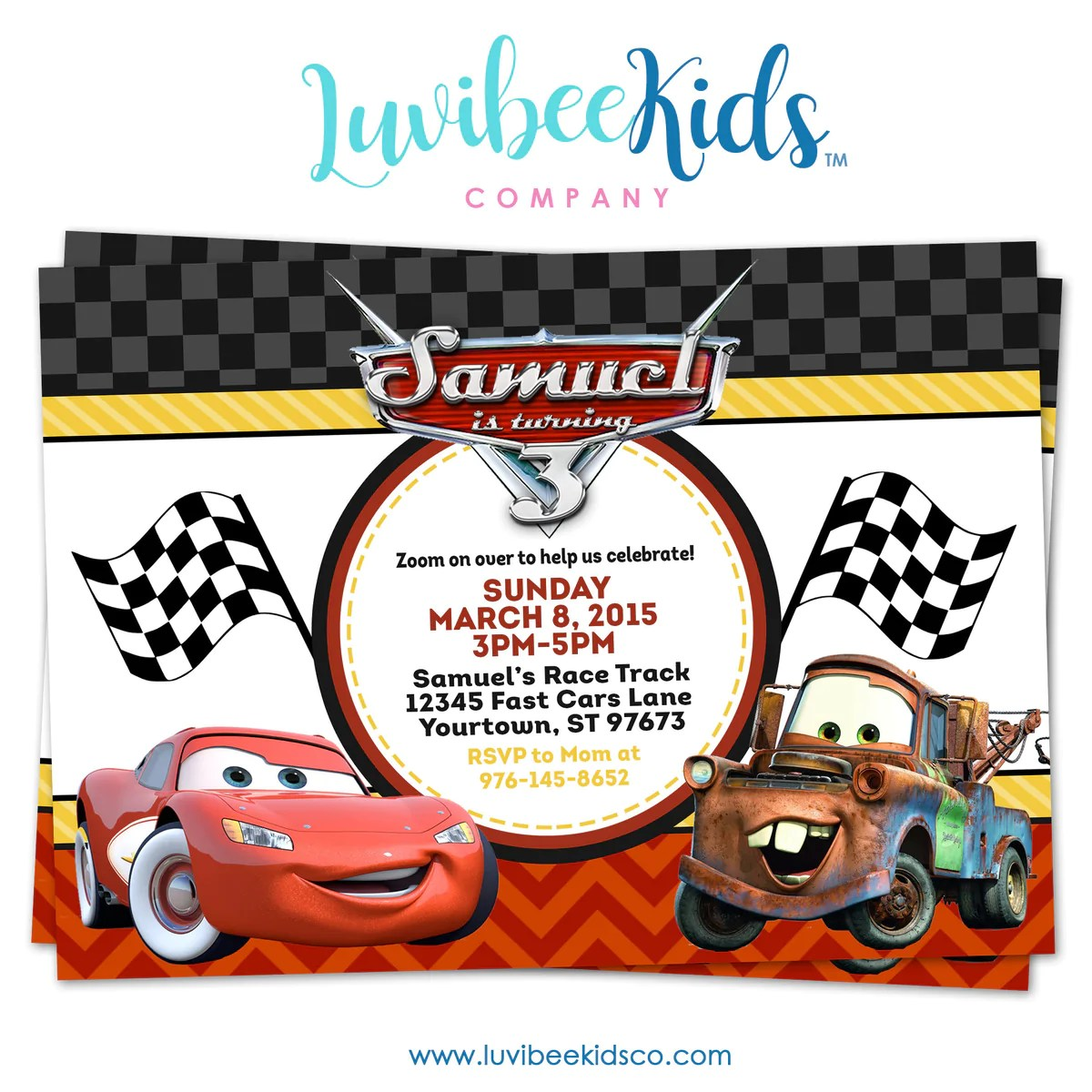 home furniture diy cars lightning mcqueen birthday party invitations 10 personalised invites boys kisetsu system co jp