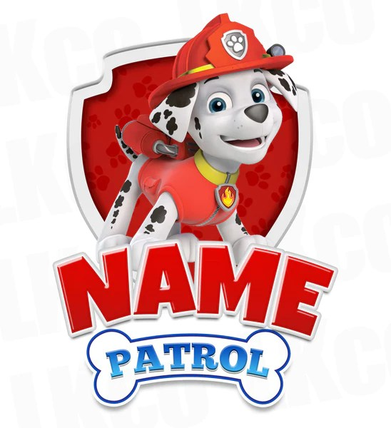 Paw Patrol Iron On Transfer Family Members Add On
