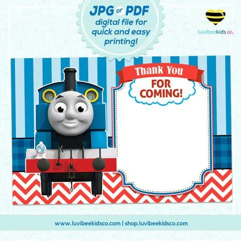 Thomas The Train Thank You Card Blank – LuvibeeKidsCo