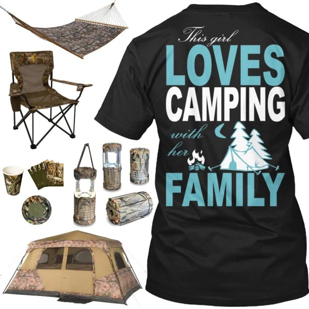 This Girl Loves Camping Shirt  Camo Gear  Real Country