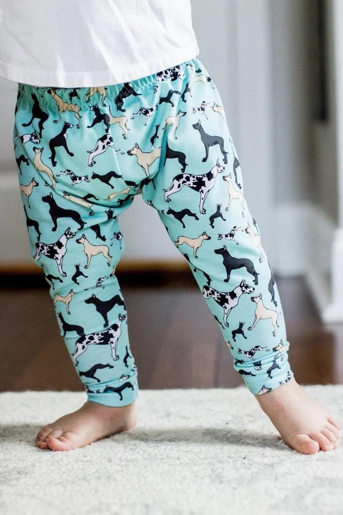 great dane print leggings