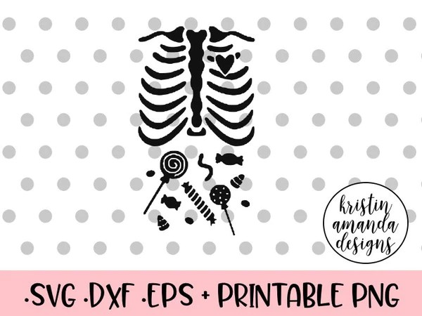 Download Halloween Skeleton Candy SVG DXF EPS PNG Cut File • Cricut ...