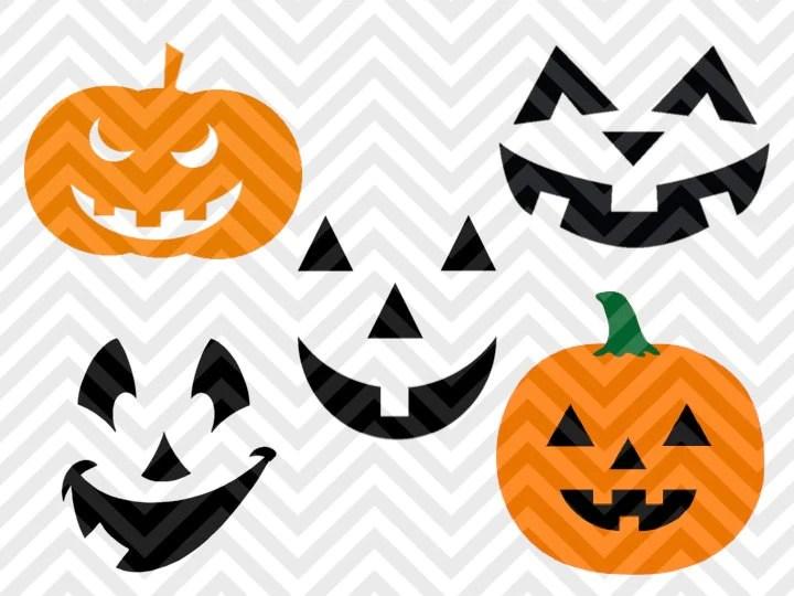 Download Pumpkins Jack o Lantern Halloween SVG and DXF Cut File ...