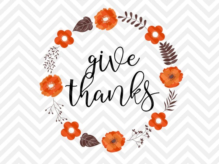 Download Give Thanks Fall Thanksgiving Wreath Grateful Heart SVG ...