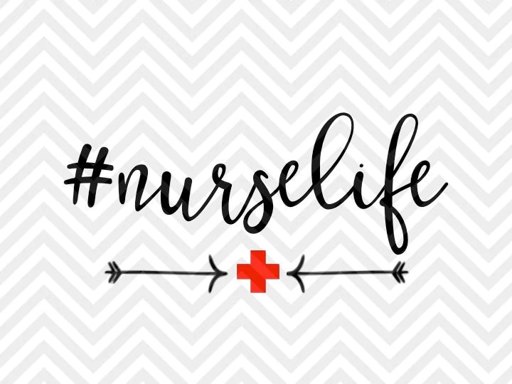 Download Hashtag Nurse Life SVG and DXF Cut File • PNG • Vector ...