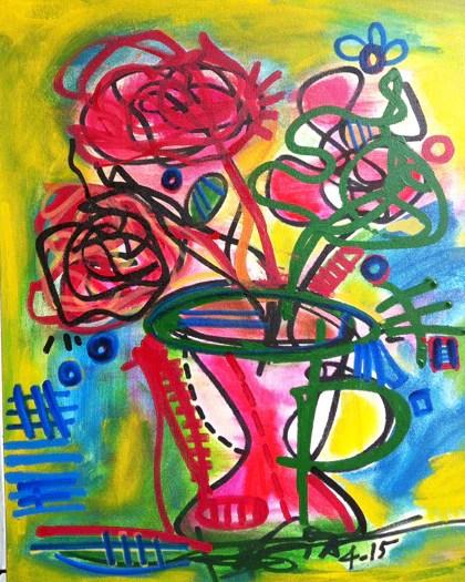 Image result for colorful vase art
