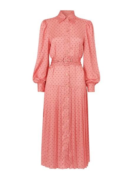 Tara Pink Polka Dot Shirt Dress