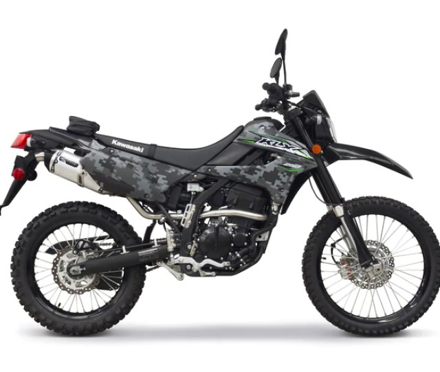 Kawasaki Klx250 Black Series S1r Full System 2018 Two Brothers Racing Tbr