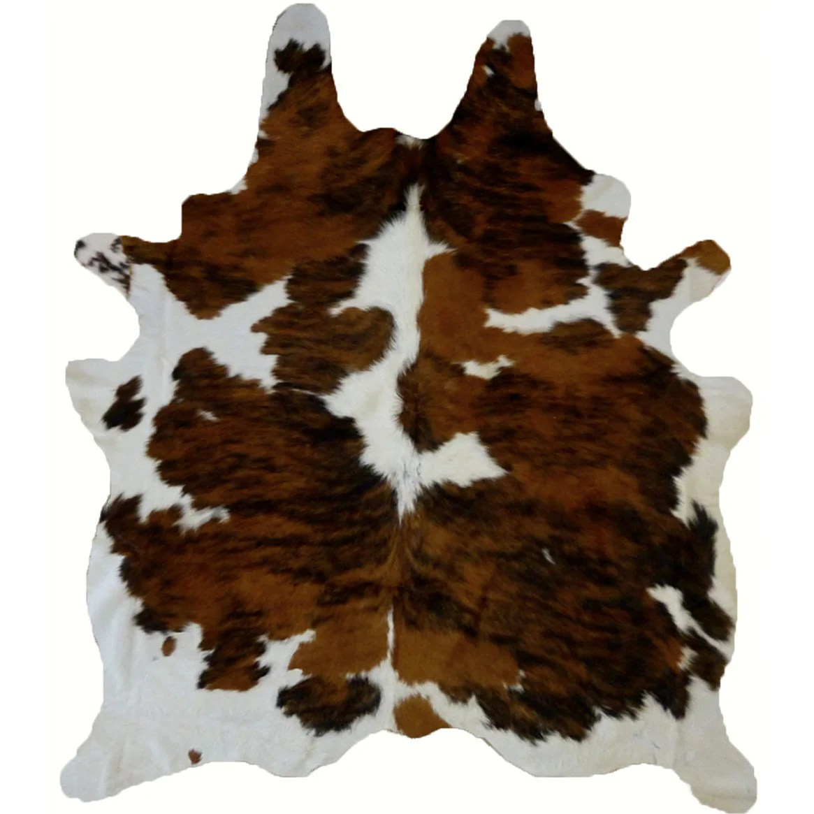 Luxury Brown Tricolor Cowhide Rug