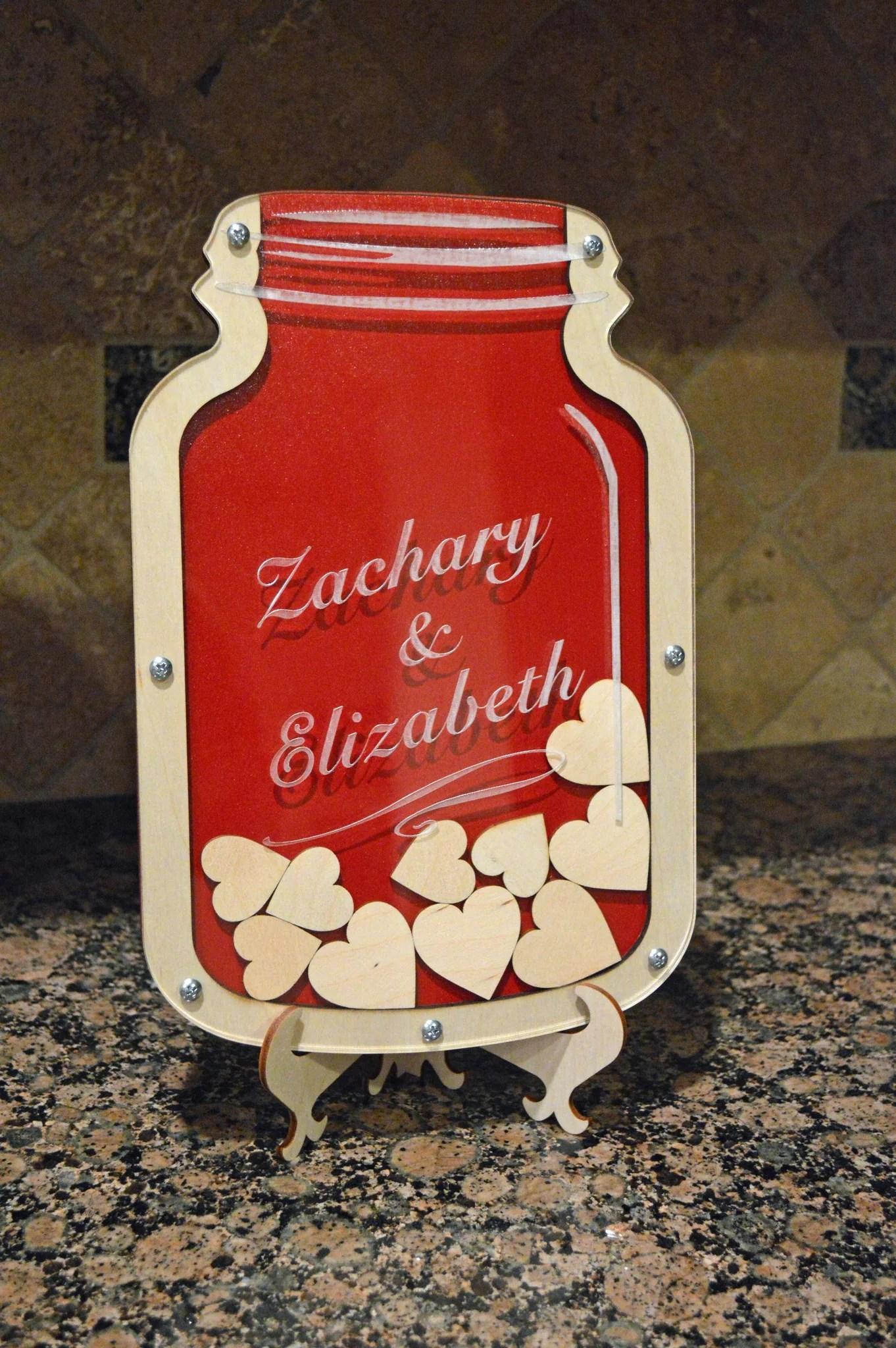 Mason Jar Guest Book Alternative Personalized Wedding