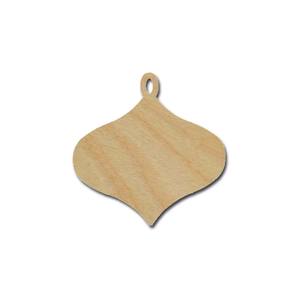 ornament shape unfinished wood