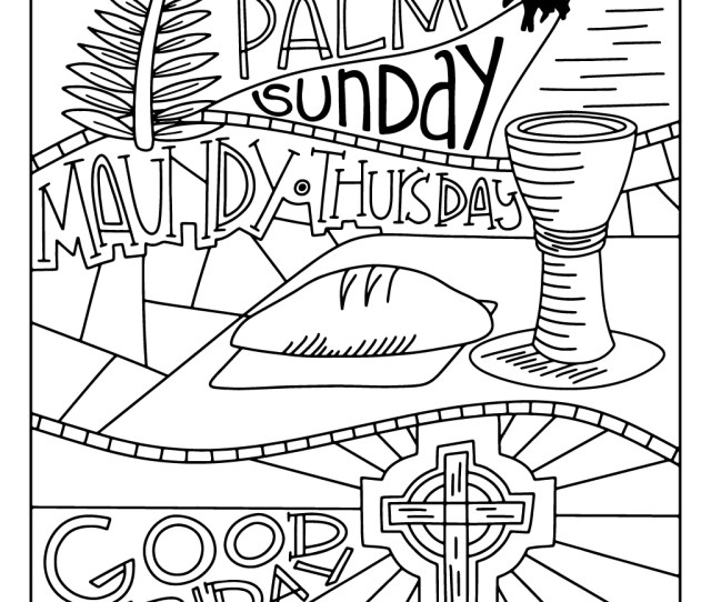 An Illustrated Lent For Families Devotions Coloring Sheets For