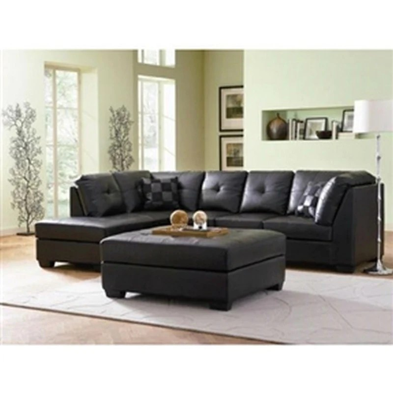 cheap black leather sectional sofas sofa set singapore faux with left side chaise echaise