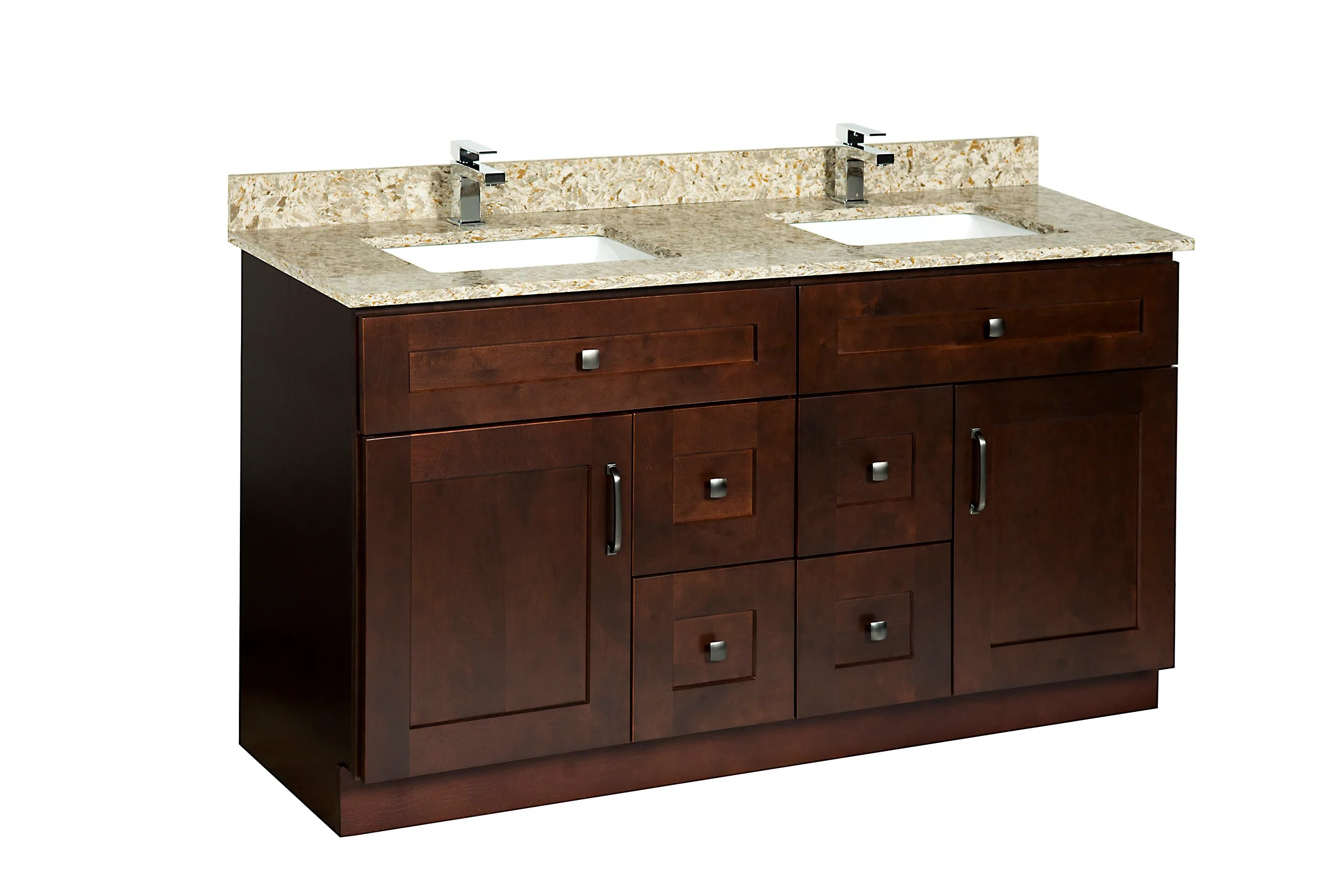 Bathroom Cabinet Configurations - 60 Double Sink
