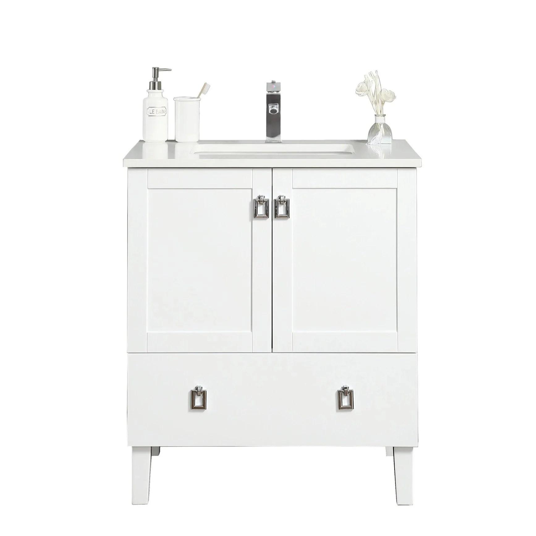 Tessa Bathroom Vanity In Toga White 30 Inch Broadway Vanities