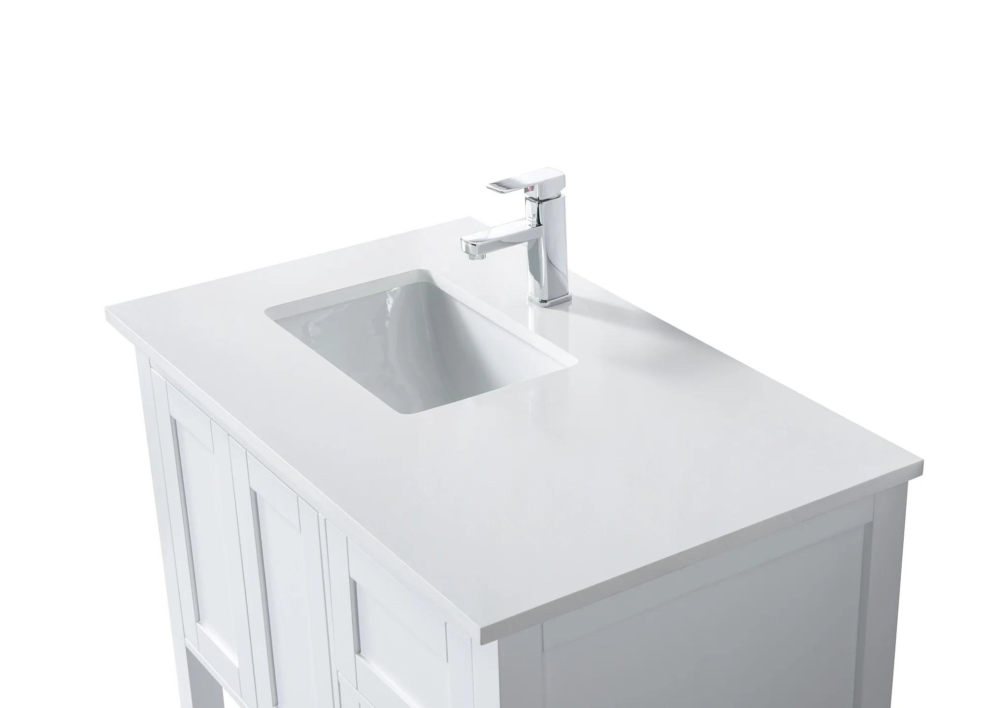 36 taiya bathroom vanity in toga white left offset sink