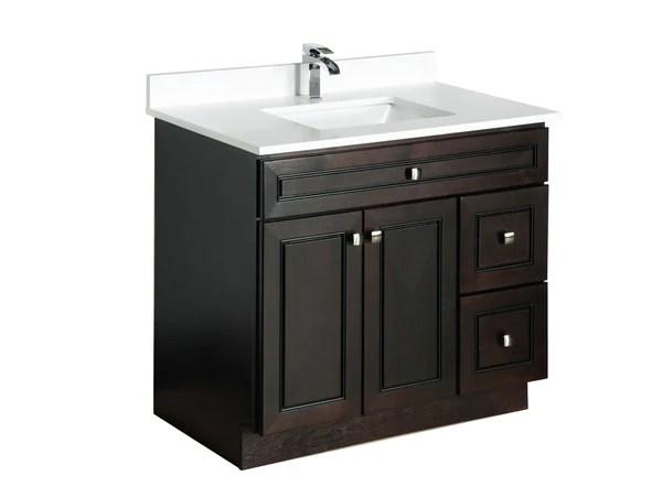 36 Maple Wood Bathroom Vanity in Espresso  Broadway Vanities