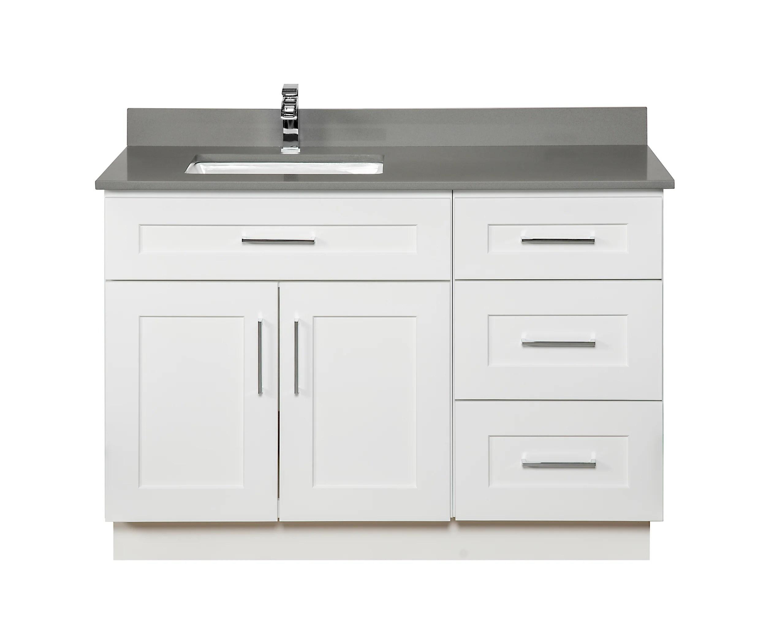 offset bathroom vanity in white broadway vanities
