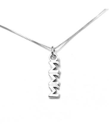 Tri Sigma Letters : sigma, letters, Sigma, Lavaliers:, Sterling, Silver, (Made, Sorority, Gifts
