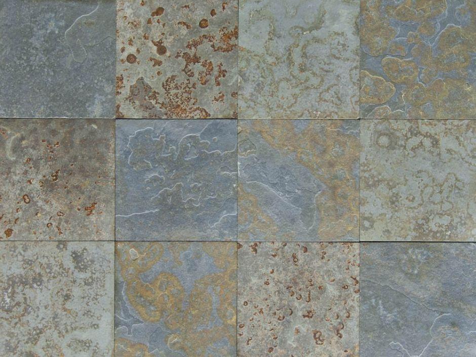 brazilian multicolor slate tile brushed