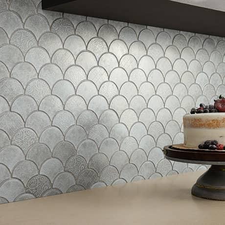 vintage metals whitewash titanium metal mosaic 3 fan