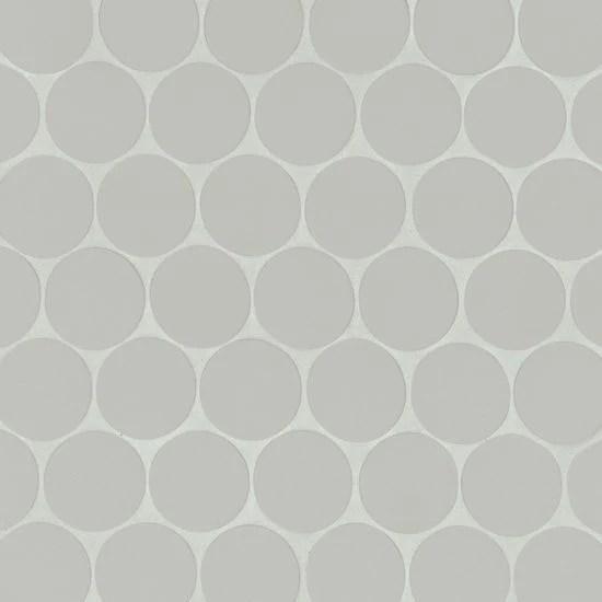 makoto kumo gray porcelain mosaic 2 x 2 penny round