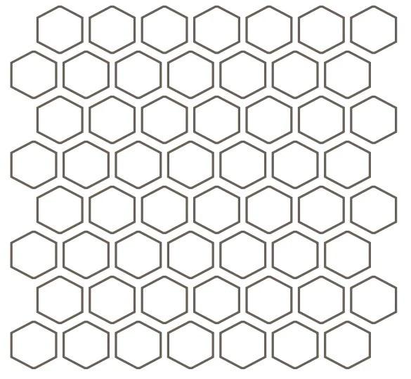 color wheel mosaic navy ceramic mosaic 1 1 2 hexagon