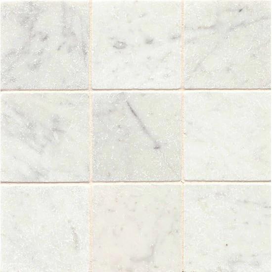 white carrara marble tile tumbled